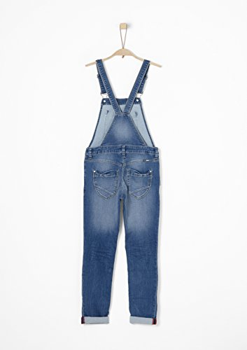 s.Oliver RED LABEL Junior Mädchen Suri: Denim-Latzhose blue denim stretch 176.REG