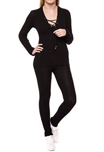 Luxry Homeware - Sweat-shirt - Manches Longues - Femme * Noir
