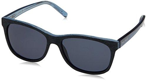 Tommy Hilfiger Unisex-Erwachsene Sonnenbrille TH 1985 KU Schwarz (Pattern Blue), 56 Preisvergleich