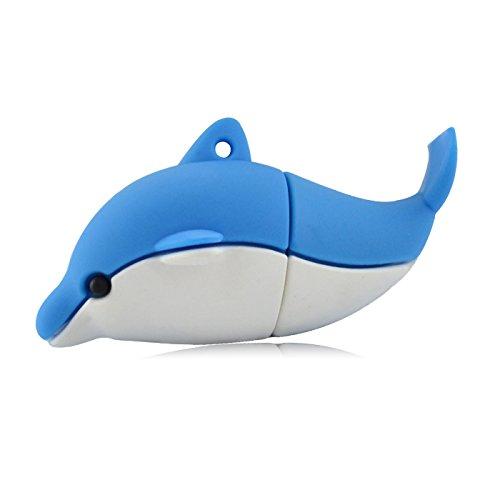 818-Shop No19700060008 USB-Sticks (8 GB) Delphin Delfin 3D Blau