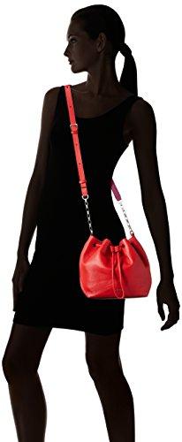 Calvin Klein MIA Mini Drawstring, Borsa a Tracolla Donna, 10x20x23 cm (B x H x T) Rosso (FIERY RED/BERRY 908)