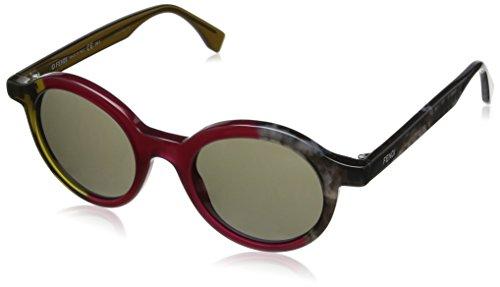 Fendi occhiali da sole ff 0066/s 70 rotondi, donna, mxx