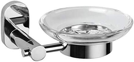 Yunfeng Portasapone,Cremagliera di acciaio inossidabile acciaio piatto unico rack bagno in acciaio inossidabile inox sapone 13,2 * 12.2 * 6cm 4b6795