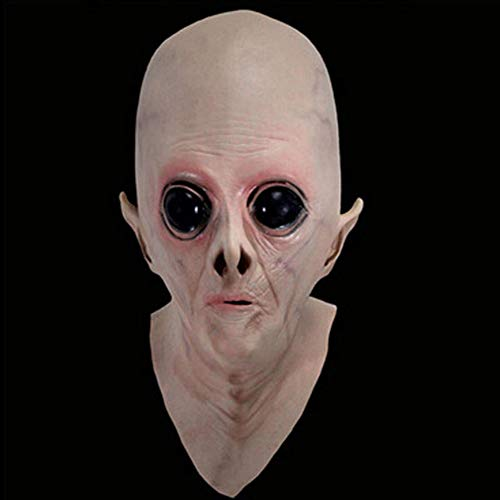Muzhili3 Halloween-Maske gruselig ekelhaft, Vinyl, große Augen, Alien-Maske, Kostüm, Party, Cosplay-Requisiten, Vinyl, Flesh Color