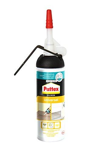 Pattex Universal Silikon Spender, Fugenfüller ohne Kartuschenpistole anwendbar, vielseitig einsetzbare Dichtmasse für innen & außen, 1 x 100ml