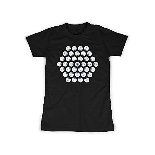 licaso Frauen T-Shirt mit Alle Augen auf einen Aufdruck in Black Gr. XXXXXL Eyes, Augapfel Design Top Shirt Frauen Basic 100% Baumwolle Kurzarm