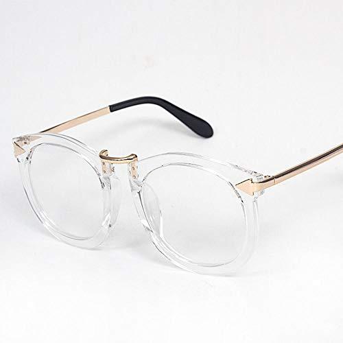 Mode literarischen Retro Metall Pfeil Brillengestell. Brille (Farbe : Clear)