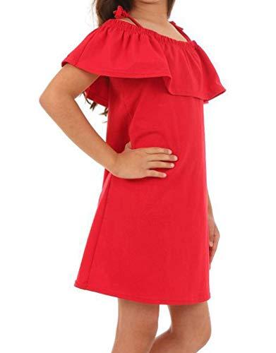 Dykmod Mädchen Sommer Kleid Falten Frühling hk331 Rot 134