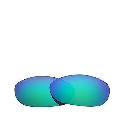Neue Marke polalized Ersatz-Objektive für Oakley Monster Dog Sonnenbrille Eiche & Ban mehrere Farbe Optionen K006, Emerald - Polarized