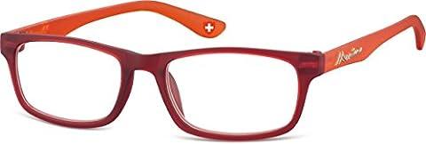Montana Size 51-17-140 Power 2.00 Burgundy and Orange Reading Glasses