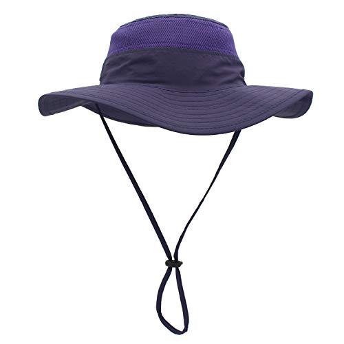 Outfly Wide Brim Sonnenhut Mesh Bucket Hut Leichtgewicht Bonnie Hut Perfekt für Outdoor-Aktivitäten, Verschiedene Farben (Purple) -
