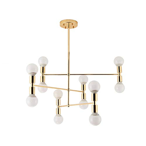 Nordic gold Kronleuchter, europäische multi Kopf LED postmoderne Eisen Deckenleuchte Wohnzimmer...