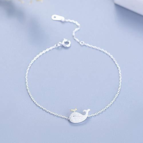 EEvER Korean Style Fashion Armband Niedlichen Kleinen Wal Armband Silberschmuck