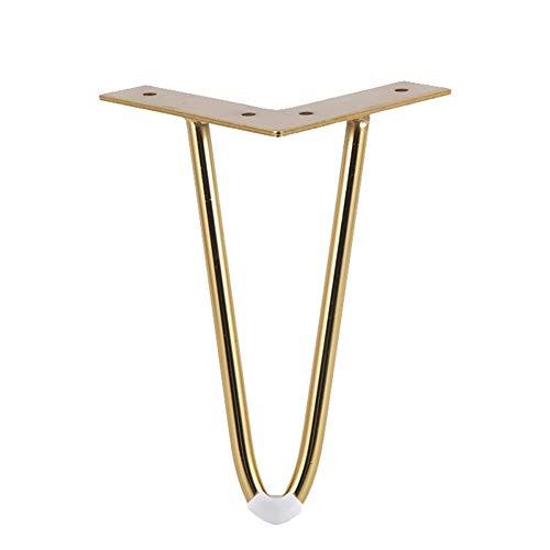 JIE. Tee Tisch Fuß Möbel Fuß Eisen TV Schrank Fuß Sofa Fuß Tischbeine Schwarze Sofa Beine Sideboard Beine -4PC,Gold - Eisen Sideboard