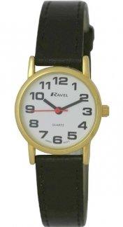 Ravel Classical Black Strap Ladies Dress Watch R0105.05.2