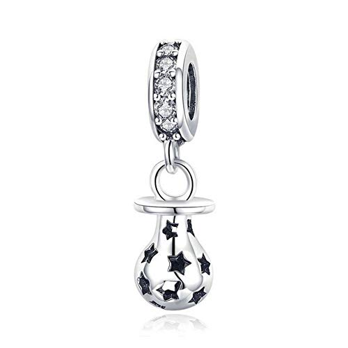 3a376fb8a5eb Dxlts Abalorios Charms para Mujer Plata de Ley 925 Chupete Colgante  Compatible con Pandora o Pulsera