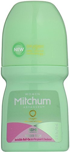 Mitchum Women Invisible Roll-On, Powder Fresh 1.7 oz by Mitchum