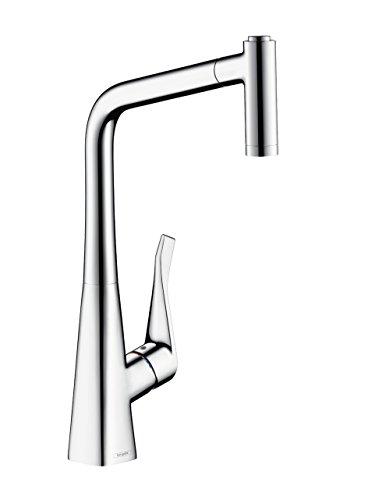 Hansgrohe - Metris Küchenmischer, ausziehbare Brause, schwenkbar, Komfort-Höhe 320