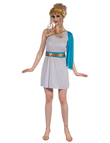 Griechische Kaiserin Kostüm für Damen Weiss-goldfarben-blau - Griechische Kaiserin Für Erwachsenen Kostüm