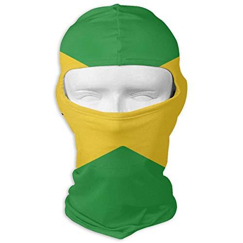 Voxpkrs Cappellino da pallavolo con bandiera giamaicana Maschera per il viso Cappuccio per sport da sci, ciclismo, motociclismo, arrampicata