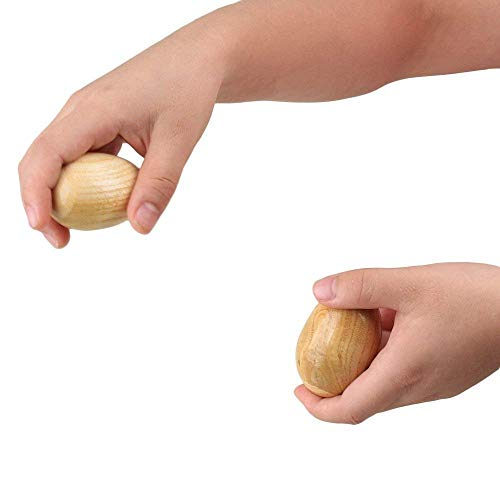 2 Pack Musical Percussion Instruments Wooden Egg Shakers Rhythm Rattle for Baby Kids