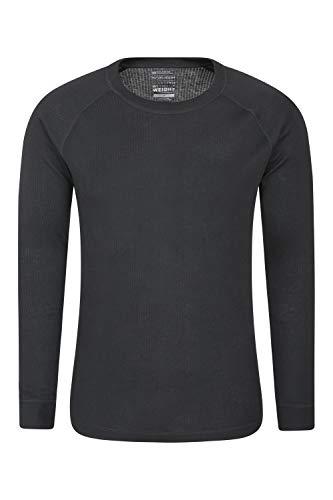 Mountain warehouse talus - maglia termica a maniche lunghe da uomo - asciugatura rapida, facile da lavare, leggera e traspirante nero large
