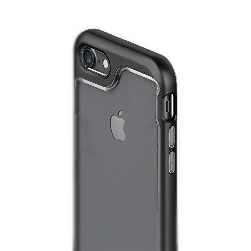 Caseology Custodia iPhone 8, [Serie Skyfall] Cover, Sottile Assorbimento d'Urto Protettiva TPU Robusta Protezione Tattile Aderenza [Nero – Black] per Apple iPhone 8 (2017) / 7 (2016)