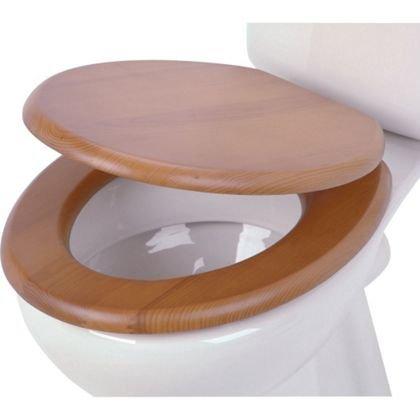 Estilo Naturel Abattant de WC - Effet pin