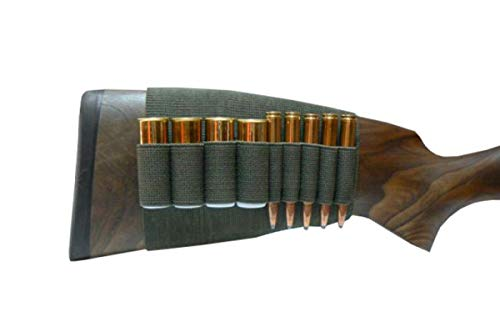 Schaft Patronenetui - Für 5X Kugelpatrone und 4X Schrotpatrone Kal. 12/16 - Patronenhalter für Hinterschaft (Kolbenschaftetui Munition)