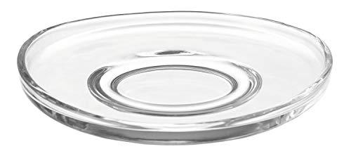 Leonardo Loop Untersetzer, 6-er Set, Durchmesser 14 cm, spülmaschinengeeignet, Klarglas, 058205