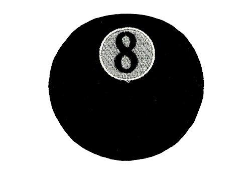 Fußball-billard-kugeln (Patch gestickt Aufnäher Billardkugel 8 Biker schwarz)