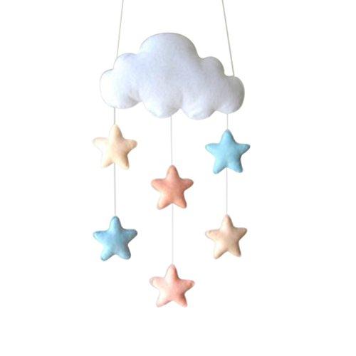 LUOEM Star Hanging Cloud Raindrop Dekorationen Baby Kinderzimmer Dekoration für Baby Dusche Wand Tür Dekor