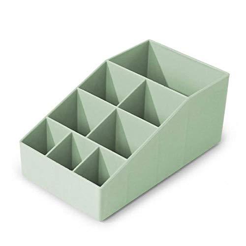XIAOZHOU Kosmetische Aufbewahrungsbox Hauptspeicher Kosmetische Aufbewahrungsbox Große Kapazität Makeup Tool Aufbewahrungsbox Kunststoff Kosmetik Aufbewahrungsbox Grün -