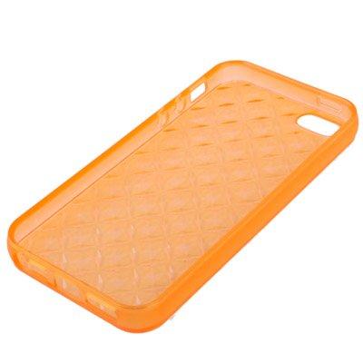 iPhone 5/5S étui en silicone orange avec structure Diamant-Original seulement de thesmartguard
