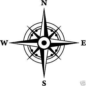 Online Design Vinyl Waterproof Compass Boat Decal Sticker - Boat decals amazon   easy removal
