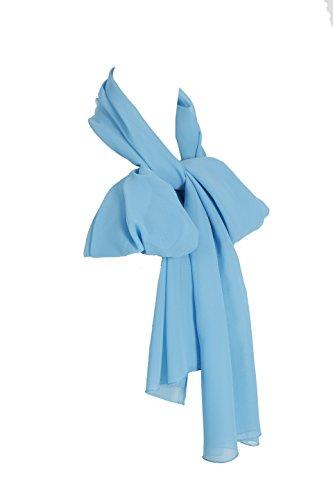 Find Dress Femme pashmina châle/écharpe/foulard élégante en mousseline de soie Rouge