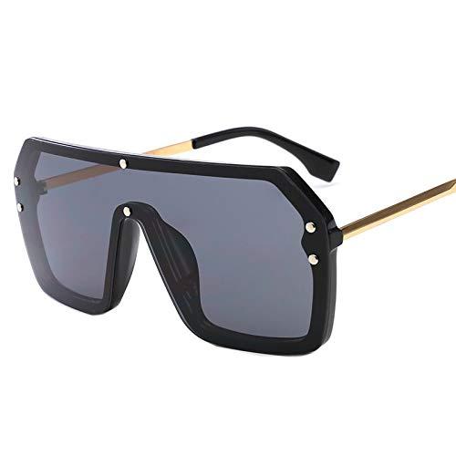 SNXIHES Sonnenbrillen Neue Übergroße Sonnenbrille Mode Sonnenbrille Frau Retro Brille Platz Schild Sonnenbrille Männer Shades 5