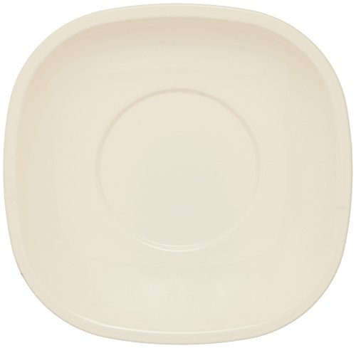Signoraware Square Half Plate Set, Set of 3, Off White