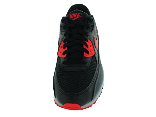 Nike Air Max 90 Essential, Sneakers Basses femme Black (Blk / Unvrsty Rd-Drk Gry-Wlf Gry)