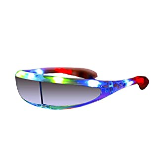 NEO+++++ LED Party Glasses. Brillante, Flash, Divertido LED Gafas, Luces, Outfit, Accesorios de Maquillaje
