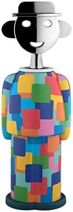 Alessi Alessandro M. -Groningen Cavatappi, Resina Termoplastica, Zama Cromata, Multicolore, 6 x 22 x 6