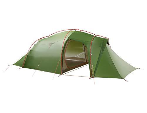 Vaude Mark XT 4P, vielseitiges 4 Personenzelt, sehr windstabil, leicht aufzubauen 4-Personen-Zelt, Green, one Size -