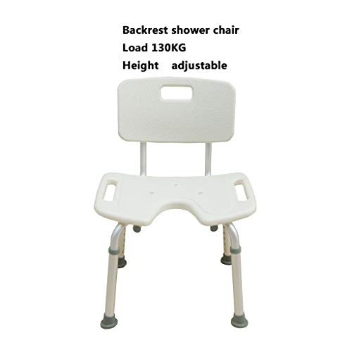 dfee57779f7 Silla de baño - Taburete de ducha de aluminio, antideslizante impermeable,  liviano, altura