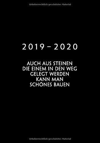 2019 - 2020: 1 Woche auf 2 Seiten   Wochenplaner ab KW31   August 2019 bis Juli 2020 Kalender   Größe A5   52 Wochen Terminkalender Planer   Goethe Zitat   Motivation