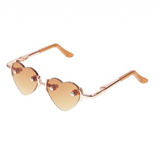 T TOOYFUL Retro Hippy Style Round / No Frame Herz Brillen Gläser Für 1/3 BJD AS DOC - # 5
