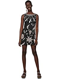 Desigual Dress Sleeveless Kira Woman Black, Vestido para Mujer