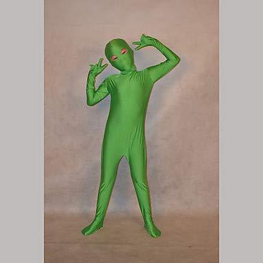 HAOBAO Zentai Anzüge Ninja Fest/Feiertage Halloween Kostüme Grün einfarbig Zentai Kostüme Kind Lycra, (Kinder Schädel Ninja Kostüm)