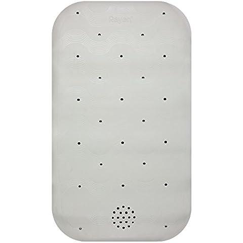 Rayen 2328 - Alfombra de baño, 34 x 58 cm, color blanco