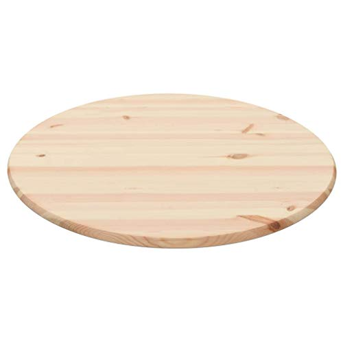 VidaXL Tablero Mesa Redondo Pino Natural 28mm 90cm