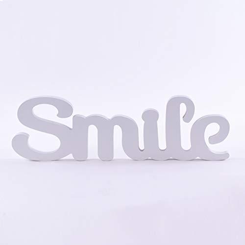 Homevibes Letras De Madera Frase Smile Ideal Decoracion